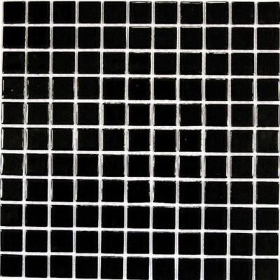 Bonaparte Мозаика Black glass  чёрный  30x30